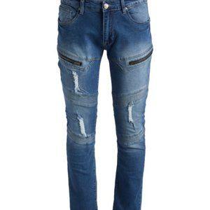 NWT RAW X Distressed Moto Jeans size 34